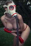 Naked White Gas Mask